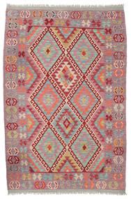 Kelim Afghan Old Style Matto 125X191 Itämainen Käsinkudottu Vaaleanharmaa/Vaaleanruskea (Villa, Afganistan)