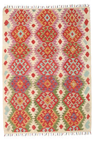 Kilim Afghan Old Style Tappeto 103X206 Orientale Tessuto A Mano Ruggine/Rosso/Beige (Lana, Afghanistan)