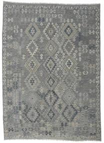 Kelim Afghan Old Style Matto 207X287 Itämainen Käsinkudottu Vaaleanharmaa/Tummanharmaa (Villa, Afganistan)