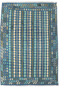 Kilim Afgan Old Style Dywan 203X290 Orientalny Tkany Ręcznie Niebieski/Ciemnoniebieski (Wełna, Afganistan)