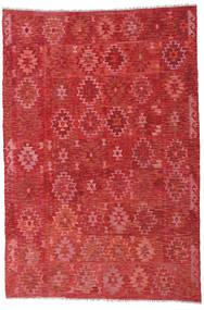 Kelim Afghan Old Style Matto 203X297 Itämainen Käsinkudottu Ruoste/Tummanpunainen (Villa, Afganistan)