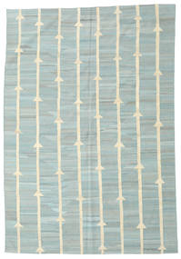 Kilim Modern Rug 194X281 Authentic  Modern Handwoven Light Grey/Pastel Green (Wool, Afghanistan)