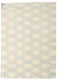 Kilim Modern Rug 205X285 Authentic  Modern Handwoven Beige/Light Grey (Wool, Afghanistan)