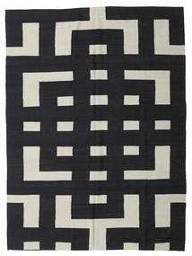 Kilim Modern Rug 212X285 Authentic  Modern Handwoven Dark Grey/Light Grey (Wool, Afghanistan)