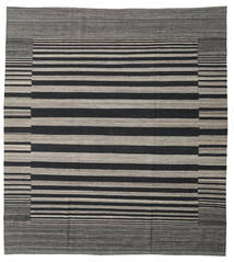 Kilim Modern Rug 264X291 Authentic  Modern Handwoven Dark Grey/Black/Light Grey Large (Wool, Afghanistan)