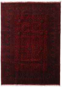 Afghan Khal Mohammadi Alfombra 210X291 Oriental Hecha A Mano Rojo Oscuro (Lana, Afganistán)
