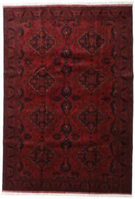 Afghan Khal Mohammadi Matto 203X294 Itämainen Käsinsolmittu Tummanpunainen/Tummanruskea (Villa, Afganistan)