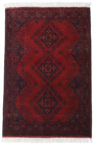 Afghan Khal Mohammadi Matto 85X122 Itämainen Käsinsolmittu Tummanpunainen (Villa, Afganistan)
