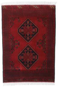 Afghan Khal Mohammadi Matto 83X119 Itämainen Käsinsolmittu Tummanpunainen/Punainen (Villa, Afganistan)