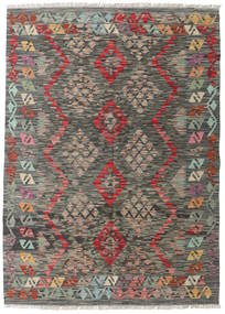 Kilim Afghan Old Style Rug 127X177 Authentic  Oriental Handwoven Dark Grey/Light Grey (Wool, Afghanistan)