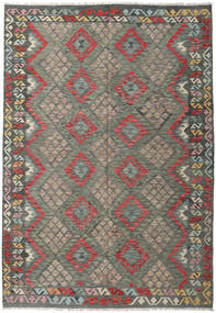 Kilim Afghan Old Style Rug 205X295 Authentic  Oriental Handwoven Dark Grey/Light Grey (Wool, Afghanistan)