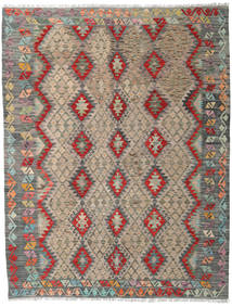 Kilim Afghan Old Style Rug 185X243 Authentic  Oriental Handwoven Light Grey/Light Brown (Wool, Afghanistan)