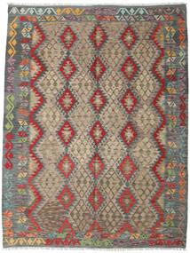 Kelim Afghan Old Style Matta 180X237 Äkta Orientalisk Handvävd Ljusbrun/Mörkgrå (Ull, Afghanistan)