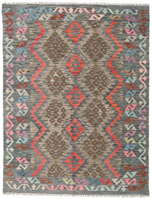 Kilim Afghan Old Style Rug 136X175 Authentic  Oriental Handwoven Light Brown/Dark Grey (Wool, Afghanistan)