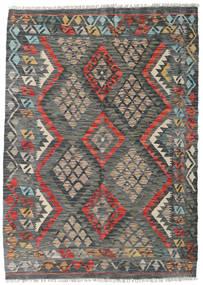 Kilim Afghan Old Style Tappeto 125X174 Orientale Tessuto A Mano Grigio Scuro/Marrone Chiaro (Lana, Afghanistan)