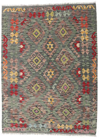 Kilim Afghan Old Style Rug 129X172 Authentic  Oriental Handwoven Dark Grey/Dark Red (Wool, Afghanistan)