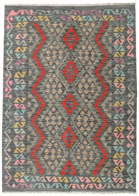 Kilim Afghan Old Style Rug 128X180 Authentic  Oriental Handwoven Dark Grey/Light Grey (Wool, Afghanistan)