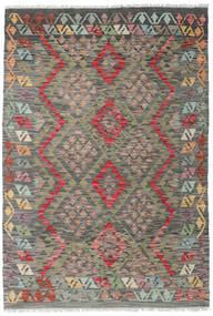 Kelim Afghan Old Style Matto 122X178 Itämainen Käsinkudottu Tummanharmaa/Vaaleanharmaa (Villa, Afganistan)