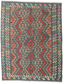 Kilim Afghan Old Style Rug 155X198 Authentic  Oriental Handwoven Dark Grey/Light Grey (Wool, Afghanistan)