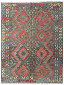 Kilim Afghan Old Style Rug 153X197 Authentic  Oriental Handwoven Dark Grey/Light Grey (Wool, Afghanistan)