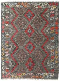 Kelim Afghan Old Style Matto 133X175 Itämainen Käsinkudottu Tummanharmaa/Vaaleanruskea (Villa, Afganistan)