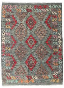 Kilim Afgan Old Style Dywan 129X174 Orientalny Tkany Ręcznie Ciemnoszary/Jasnoszary (Wełna, Afganistan)