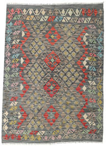 Kilim Afghan Old Style Rug 122X168 Authentic  Oriental Handwoven Dark Grey/Light Grey (Wool, Afghanistan)