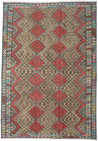 Kilim Afghan Old Style Rug 210X300 Authentic  Oriental Handwoven Dark Grey/Light Grey (Wool, Afghanistan)