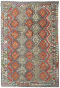 キリム アフガン オールド スタイル 絨毯 200X297 オリエンタル 手織り 濃いグレー/薄い灰色 (ウール, アフガニスタン)