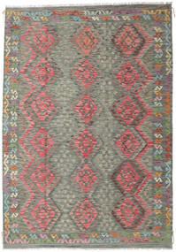 Kilim Afghan Old Style Rug 210X301 Authentic  Oriental Handwoven Dark Grey/Light Brown (Wool, Afghanistan)