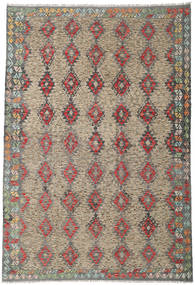 Kilim Afghan Old Style Rug 210X306 Authentic  Oriental Handwoven Light Brown/Dark Grey (Wool, Afghanistan)