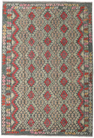 Kilim Afghan Old Style Rug 201X297 Authentic  Oriental Handwoven Dark Grey/Light Grey (Wool, Afghanistan)