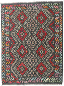 Kilim Afghan Old Style Rug 150X199 Authentic  Oriental Handwoven Dark Grey/Black (Wool, Afghanistan)