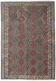 Kilim Afghan Old Style Rug 170X244 Authentic  Oriental Handwoven Dark Grey/Light Grey (Wool, Afghanistan)