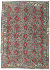 Kilim Afghan Old Style Rug 181X249 Authentic  Oriental Handwoven Dark Grey/Light Grey (Wool, Afghanistan)