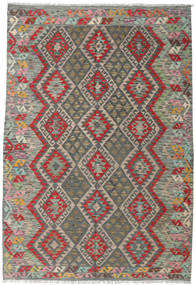 Kilim Afghan Old Style Rug 172X252 Authentic  Oriental Handwoven Dark Grey/Olive Green (Wool, Afghanistan)