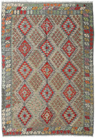 Kilim Afghan Old Style Rug 171X248 Authentic  Oriental Handwoven Light Grey/Olive Green (Wool, Afghanistan)