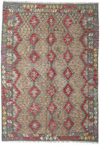 Kelim Afghan Old Style Matta 173X247 Äkta Orientalisk Handvävd Ljusbrun/Mörkgrå (Ull, Afghanistan)