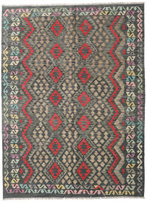 Kilim Afghan Old Style Rug 183X245 Authentic  Oriental Handwoven Dark Grey/Light Grey (Wool, Afghanistan)