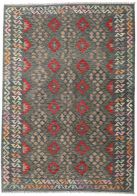 Kilim Afghan Old Style Rug 175X246 Authentic  Oriental Handwoven Dark Grey/Light Grey (Wool, Afghanistan)