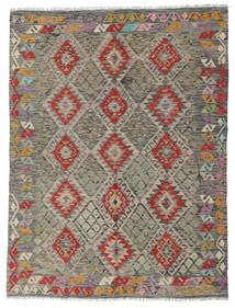Kilim Afghan Old Style Rug 182X242 Authentic  Oriental Handwoven Dark Grey/Olive Green/Light Grey (Wool, Afghanistan)