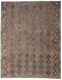 Килим Афган Старый Стиль Ковер 314X394 Сотканный Вручную Темно-Серый/Оливковый Большой (Шерсть, Афганистан)