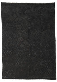 Kilim Afghan Old Style Rug 211X298 Authentic  Oriental Handwoven Black (Wool, Afghanistan)