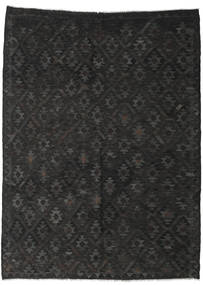 Kilim Afghan Old Style Rug 213X286 Authentic  Oriental Handwoven Black/Dark Grey (Wool, Afghanistan)