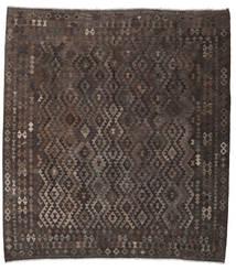 Kilim Afgan Old Style Dywan 263X289 Orientalny Tkany Ręcznie Kwadratowy Ciemnobrązowy Duży (Wełna, Afganistan)