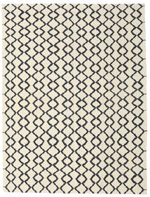 Kilim Modern Rug 213X280 Authentic  Modern Handwoven Beige/Dark Grey (Wool, Afghanistan)