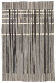 Kilim Modern Rug 200X306 Authentic  Modern Handwoven Dark Grey/Light Grey (Wool, Afghanistan)
