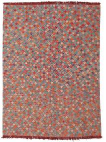 Kelim Afghan Old Style Tæppe 205X280 Ægte Orientalsk Håndvævet Brun/Lysegrå (Uld, Afghanistan)