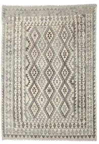 Kelim Afghan Old Style Matto 205X292 Itämainen Käsinkudottu Vaaleanharmaa/Beige (Villa, Afganistan)