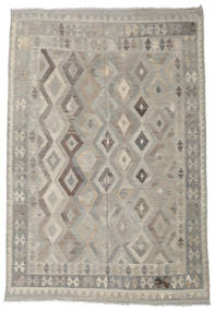 Kilim Afghan Old Style Rug 199X292 Authentic  Oriental Handwoven Light Grey/Light Brown (Wool, Afghanistan)